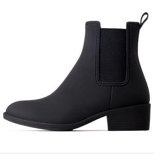 Jeffrey Campbell Stormy Rain Boots Matte Black